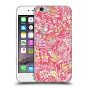Official Celandine Tropical Pattern Stand Out Pink Pastel Soft Gel Case for Apple iPhone 6 / 6s