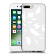 Official Caitlin Workman Organic Spring Leaf Grey Reversed Soft Gel Case for Apple iPhone 7 Plus