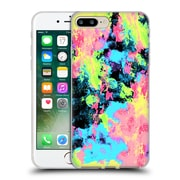Official Caleb Troy Vivid Blacklight Neon Swirl Soft Gel Case for Apple iPhone 7 Plus