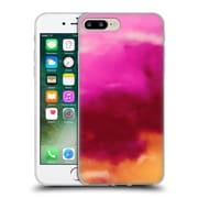 Official Caleb Troy Vivid Ruby Watercolour Soft Gel Case for Apple iPhone 7 Plus