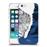 Official British Museum Community and Nurture 2 Black And Blue Print Soft Gel Case for Apple iPhone 5 / 5s / SE