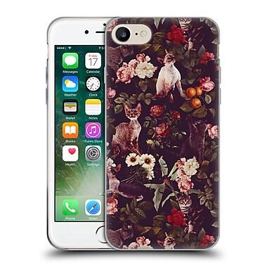 Official Burcu Korkmazyurek Animals Cat And Floral Soft Gel Case for Apple iPhone 7