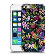 Official Celandine Tropical Pattern Stand Out Dark Soft Gel Case for Apple iPhone 5 / 5s / SE