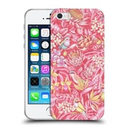 Official Celandine Tropical Pattern Stand Out Pink Pastel Soft Gel Case for Apple iPhone 5 / 5s / SE
