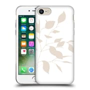 Official Caitlin Workman Organic Spring Leaf Tan White Reversed Soft Gel Case for Apple iPhone 7