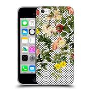 Official Burcu Korkmazyurek Floral 2 Points And Flowers Soft Gel Case for Apple iPhone 5c