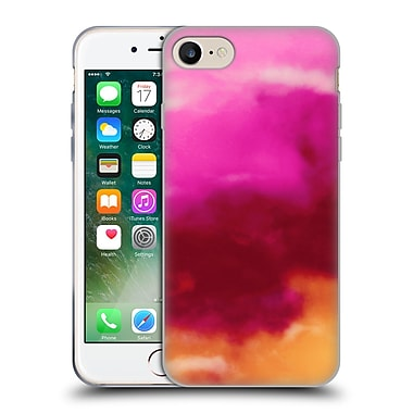 Official Caleb Troy Vivid Ruby Watercolour Soft Gel Case for Apple iPhone 7