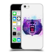 Official Chobopop Animals Lilac Geometric Bear Soft Gel Case for Apple iPhone 5c