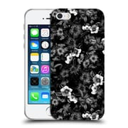 Official Burcu Korkmazyurek Floral Black And White Soft Gel Case for Apple iPhone 5 / 5s / SE