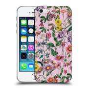 Official Burcu Korkmazyurek Floral Purple Soft Gel Case for Apple iPhone 5 / 5s / SE