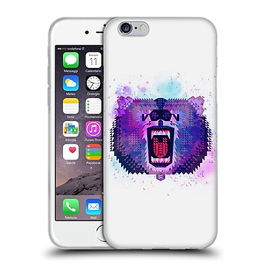 Official Chobopop Animals Lilac Geometric Bear Soft Gel Case for Apple iPhone 6 / 6s