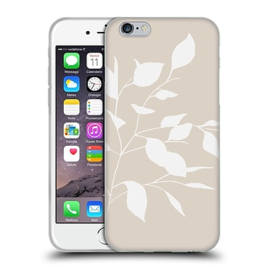 Official Caitlin Workman Organic Spring Leaf White Tan Soft Gel Case for Apple iPhone 6 / 6s