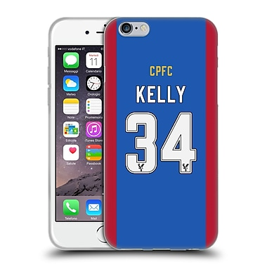 Official Crystal Palace FC 2016/17 Players Home Kit Martin Kelly Soft Gel Case for Apple iPhone 6 / 6s