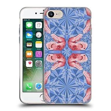 Official Chobopop Dinosaurs T-Rex Pattern Serenity Rose Quartz Soft Gel Case for Apple iPhone 7