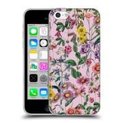 Official Burcu Korkmazyurek Floral Purple Soft Gel Case for Apple iPhone 5c