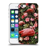 Official Burcu Korkmazyurek Birds and Floral Floral And Flamingo Soft Gel Case for Apple iPhone 5 / 5s / SE