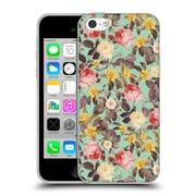 Official Burcu Korkmazyurek Floral 2 Classic Pattern Soft Gel Case for Apple iPhone 5c