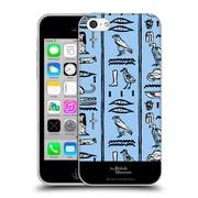 Official British Museum Ancient Egypt Blue Hieroglyphics Soft Gel Case for Apple iPhone 5c