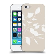 Official Caitlin Workman Organic Spring Leaf White Tan Soft Gel Case for Apple iPhone 5 / 5s / SE