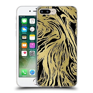 Official Caitlin Workman Patterns Marble Gold Black Soft Gel Case for Apple iPhone 7 Plus
