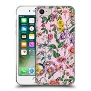 Official Burcu Korkmazyurek Floral Purple Soft Gel Case for Apple iPhone 7