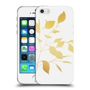 Official Caitlin Workman Organic Spring Leaf Gold Soft Gel Case for Apple iPhone 5 / 5s / SE