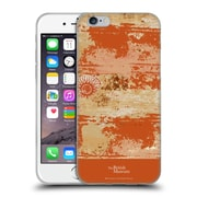 Official British Museum Decoration and Ceremony Distressed Orange Texture Soft Gel Case for Apple iPhone 6 / 6s