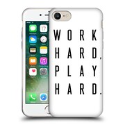 Official Caitlin Workman Typography Work Hard Play Hard Soft Gel Case for Apple iPhone 7