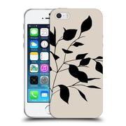 Official Caitlin Workman Organic Spring Leaf Tan Soft Gel Case for Apple iPhone 5 / 5s / SE
