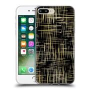 Official Caitlin Workman Patterns Cross Hatch Black Soft Gel Case for Apple iPhone 7 Plus
