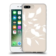 Official Caitlin Workman Organic Spring Leaf White Tan Soft Gel Case for Apple iPhone 7 Plus