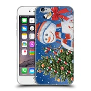 Official Christmas Mix Snowman William Vanderdasson Decorating Tree Soft Gel Case for Apple iPhone 6 / 6s