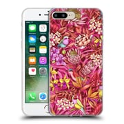 Official Celandine Tropical Pattern Stand Out Red Soft Gel Case for Apple iPhone 7 Plus