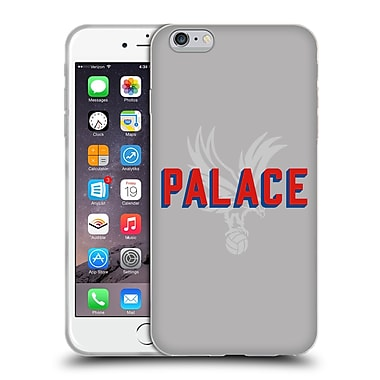 Official Crystal Palace FC The Eagles Palace Grey Soft Gel Case for Apple iPhone 6 Plus / 6s Plus