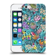 Official Celandine Tropical Pattern Stand Out Teal Soft Gel Case for Apple iPhone 5 / 5s / SE