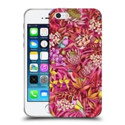 Official Celandine Tropical Pattern Stand Out Red Soft Gel Case for Apple iPhone 5 / 5s / SE