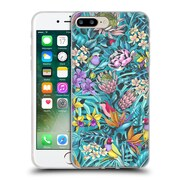 Official Celandine Tropical Pattern Stand Out Teal Soft Gel Case for Apple iPhone 7 Plus