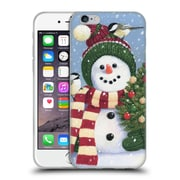 Official Christmas Mix Snowman William Vanderdasson Holding Soft Gel Case for Apple iPhone 6 / 6s