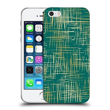 Official Caitlin Workman Patterns Cross Hatch Emerald Soft Gel Case for Apple iPhone 5 / 5s / SE