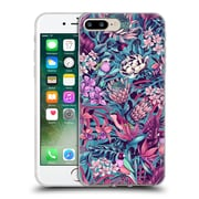 Official Celandine Tropical Pattern Stand Out Electric Blue Soft Gel Case for Apple iPhone 7 Plus