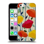 Official Carrie Schmitt Florals Cheerful Poppies Soft Gel Case for Apple iPhone 5c