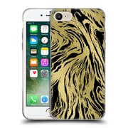 Official Caitlin Workman Patterns Marble Gold Black Soft Gel Case for Apple iPhone 7