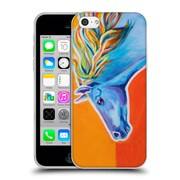 Official DAWGART WILDLIFE Horse Like The Wind Soft Gel Case for Apple iPhone 5c