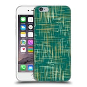 Official Caitlin Workman Patterns Cross Hatch Emerald Soft Gel Case for Apple iPhone 6 / 6s