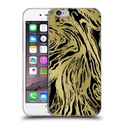 Official Caitlin Workman Patterns Marble Gold Black Soft Gel Case for Apple iPhone 6 / 6s