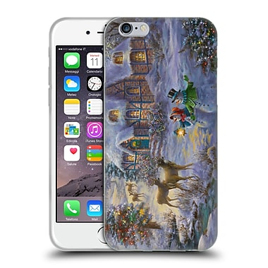 Official Christmas Mix Winter Wonderland Nicky Boehme Cottage 1 Soft Gel Case for Apple iPhone 6 / 6s