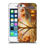 Official Chuck Black Cabin Fall Memories Soft Gel Case for Apple iPhone 5 / 5s / SE