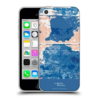 Official British Museum Decoration and Ceremony Blue Blotch Soft Gel Case for Apple iPhone 5c