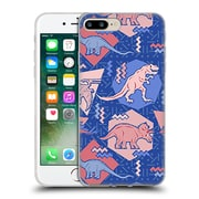 Official Chobopop Dinosaurs 90's Dino Serenity Rose Quartz Soft Gel Case for Apple iPhone 7 Plus