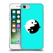 Official Chobopop Animals Yin Yang Dolphins Soft Gel Case for Apple iPhone 7
